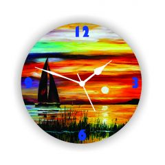 Enamor Home Decor & Furnishing - ENAMEL WALL CLOCK BAZEE006