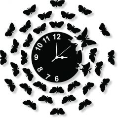 Gift Or Buy Black Wall Clock