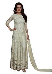 Style Amaze Indian Designer Georgette & Net Off-White Semi-sttiched Salwar Suit-SADIAMIRZAVOL5-5003