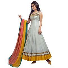 Anarkali Suits (Stitched) - Style Amaze Bollywood Designer Grey Net Anarkali Salwar Suit(SASTYLE-008)