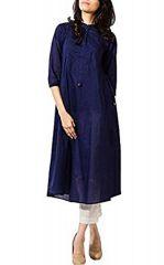 Style Amaze Ethnic Style Blue & White Cotton Straight Salwar Suit(SASUNDAY-1029)