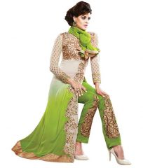 Style Amaze Georgette Light Green Color Indian Designer Straight Salwar Suit-SASUNDAY-1165
