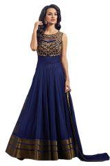 Style Amaze Presanted Embroidered Work Blue Georgette Anarkali Salwar Suit(SASUNDAY-1187)