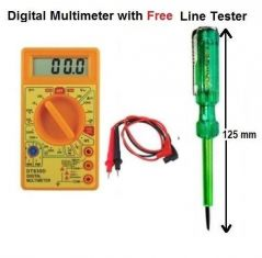 DT830D Digital Multimeter Multitester With LCD Display Free Line Tester