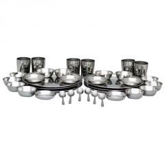 SR 36 PCs Stainless Steel Dinner Set