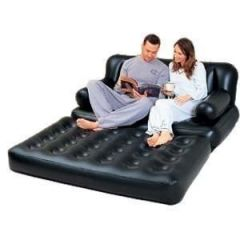 Beds - 5 In 1 Air Sofa Bed Comfort Quest Inflatable Black