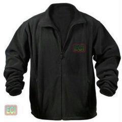 Gents Ultra Soft Polar Fleece Jacket Thermal Winter Wear Jersey - Men Black