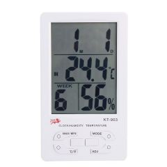 Kt903 Digital LCD Thermometer Temperature Humidity Meter With Clock Calendar Alarm