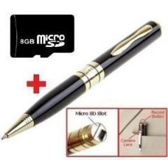 8GB USB Spy Pen Camera - Expandable Upto 16GB