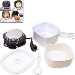 Electric Portable External Dual Voltage Electric Travel Cooker - 02