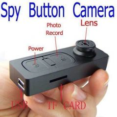 Spy Button Camera Video Audio Recorder Mini Dvr USB Vibration