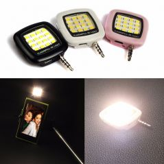 Selfie Flash Light 3.5mm Pin Jack 16 LED Flash Light With Three Levels