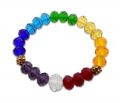 Heart shaped jewellery - Bright Seven Chakra Crystal Healing Balancing Reiki Healing Faceted Natural Stone beads Bracelet(JDH-1-JW00013)
