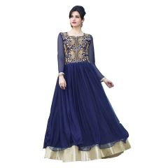 Ravechi 'S New Beautiful Fancy Navy Blue Designer Long Gown-Rfa204-10006