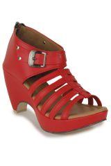 Naisha Wedges Sandal For Women (Code - SC-MQ-1114-Red)