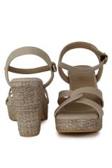 Naisha Wedges Sandal For Women (Code - SC-MA-B-1105-Beige)