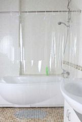 Shower curtains - Glassiano 0.25mm PVC Transparent Curtain - (Code - GI_25PVC_50X84)