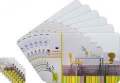 Glassiano Abstract Printed Table Mats - (Set Of 6pcs + 6Pcs Coaster) (Code - GITM_GoldF19)