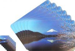 Glassiano Abstract Printed Table Mats - (Set Of 6pcs + 6Pcs Coaster) (Code - GITM_GoldF44)