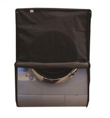 Glassiano Dark Gray Waterproof - Dustproof Washing Machine Cover For Front Load 7.5Kg Model - (Code - GIWMC_FL_7kg_DarkGrey)