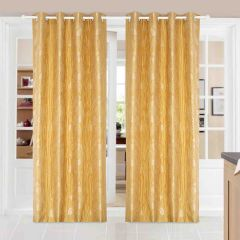 Door Curtain Jacquard Floral Design Yellow Bh13C4D