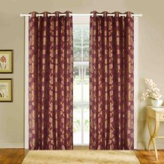 Door Curtain Jacquard Floral Design Muticolor Bh8C4D