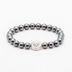 DAPPER HOMME Silver color Beads Bracelet for men