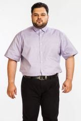DAPPER HOMME Purple color Egyptian Cotton  Plus sized shirt for men
