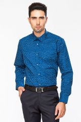 DAPPER HOMME Blue color Egyptian Cotton  Regular Fit shirt for men