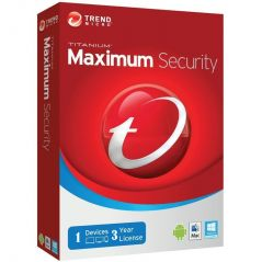 Trend Micro Maximum Security 3 Year 1PC Licence Key Code