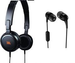 Jbl On Ear Headphone With Mic With Free Jbl Heavy Bass Earphone - OEM