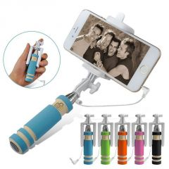 Hot Super Mini Handheld Monopod Fold Self Stick Holder Wired Selfie Stick