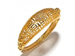 Sanaa Creations Gold Plated Fancy Kada For For All Occasions Free Size-(Product Code-1KD30)