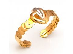 Sanaa Creations Gold Plated Heart Grill Yellow Fancy Kada For For All Occasions Free Size --(Product Code-1KD33)