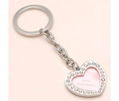 Sanaa Creations Multi Use Of Pink Heart Shape Keychain/Pendant For Love Best Friend-(Product Code-1KP03)