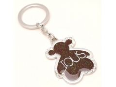 Sanaa Creations Multi Use Of Ious Teddy Shape Sparkel Brown Shape Keychain/Pendant For Style Daily Use --(Product Code-1KP06)