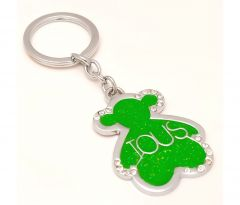 Sanaa Creations Multi Use Of Ious Teddy Shape Sparkel Grass Green Shape Keychain/Pendant-(Product Code-1KP09)