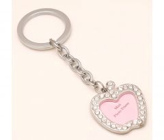 Sanaa Creations Multi Use Of Apple Shape Mini Photo Frame With Cz Keychain/Pendant-(Product Code-1KP28)