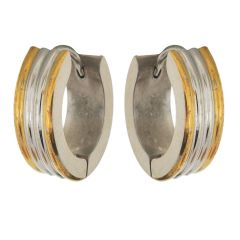 Sanaa Creations Gold and Silver Alloy Hoop Earrings for Men