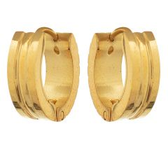 Sanaa Creations Gold Plated Alloy Hoop Earrings for Men