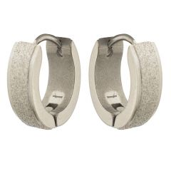 Sanaa Creations Silver Alloy Hoop Earrings for Men