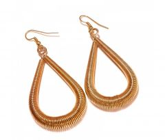 Sanaa Creations Designer Drop Spring In Copper Earrings-(Product Code-1ERN16)