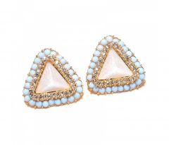 Sanaa Creations Gold Plated Fancy Shape Bunch Earring-(Product Code-1ERN79)