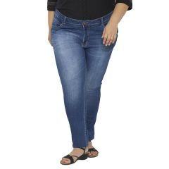 ZUSH Mid Rise Regular Fit Black color Cotton Blend plus sized Jeggings for womens ZU1027