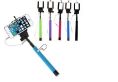 Monopod Extendable Selfie Stick With 3.5mm Aux Cable For Apple iPhone 5c