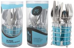 Colonial 24Pc Stainless Steel Cutlery Set With Stand & Gift Box Packing