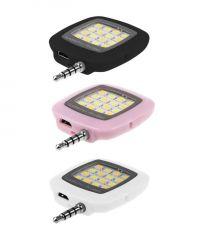 Ksj Portable 16 LED Selfie Flash Fill Flash Light For Samsung IPhone Smartphone (with Manufacturer Warranty)