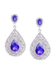 Rubans Fashion Blue Drop Earrings (Code - OP0025)