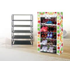 Home Basics 7 Layer Shoe Rack With Dust With Water Resistant Cover