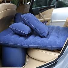Home Basics  Car Inflatable Bed With Electric Pump & Pillow (Blue)